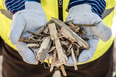 Holzhackschnitzel zur stofflichen Verwertung