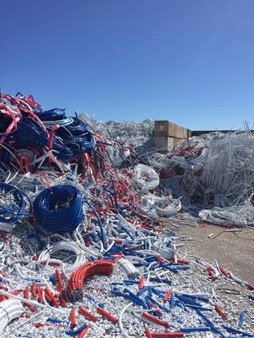 Verbund- und Kunststoffe auf dem Entsorgungshof